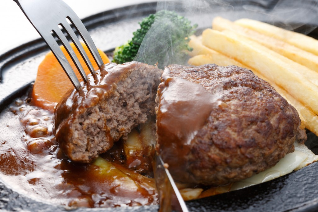 Hamnurger steak, Japanese food
