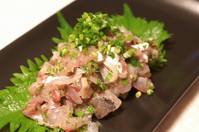 Aji no Tataki, Japanese food